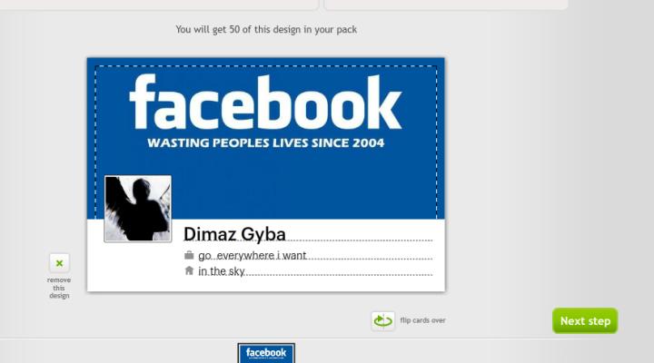 """facebook contact card"""